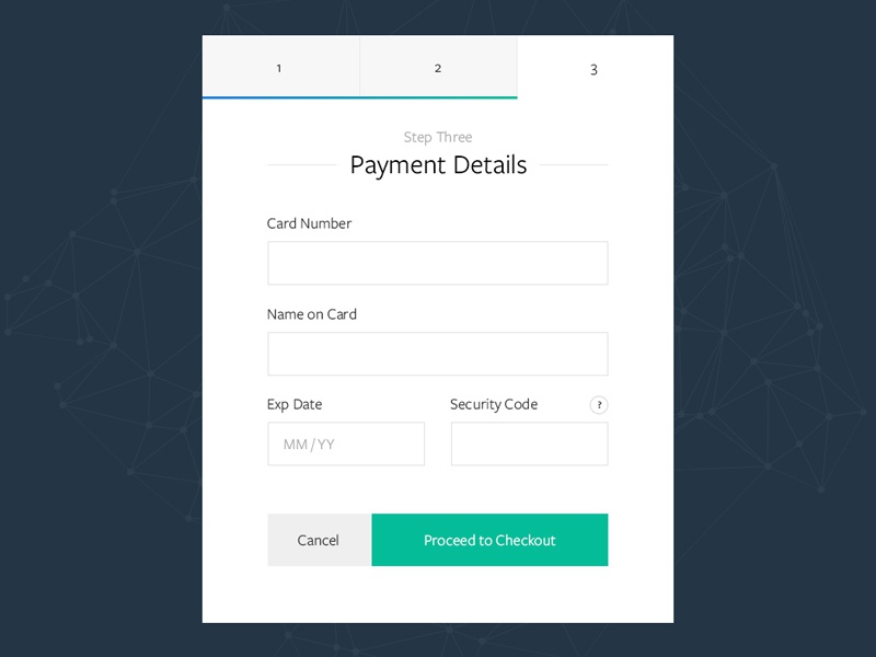 Daily UI 002 - Credit Card Checkout design ui sell payment order credit checkout buy shop widget card ecommerce
