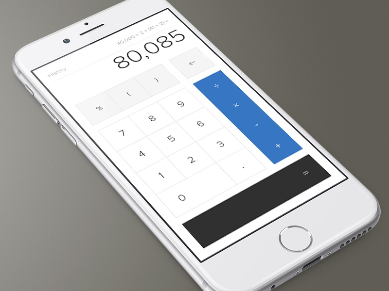 Daily UI 004 - Calculator clean dailyui number calculator add minimal daily ux flat ui