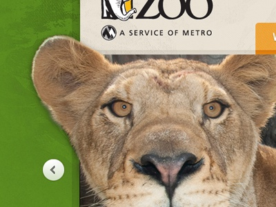 Zoo Cat Meow banner frame green animal cat