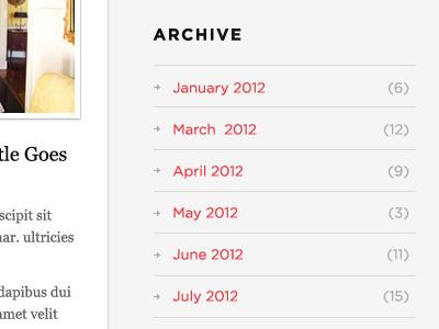 Blog Archive Widget