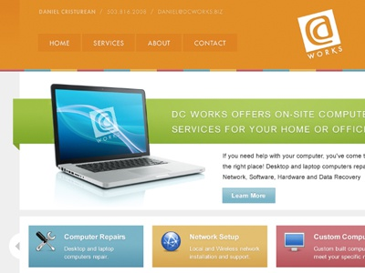 DC Works Website website multi color computer mac