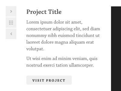 Projects Navigation website navigation clean simple serif