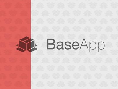 BaseApp Logo logo branding simple box