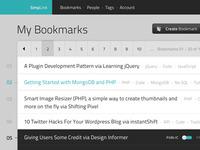 SimpLink Bookmarks Listing