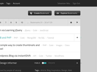 SimpLink Bookmarks Listing 2 ui app interface minimal clean teal