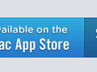 Available on the Mac App Store button blue sharp