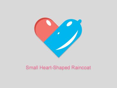 Small heart-shaped raincoat