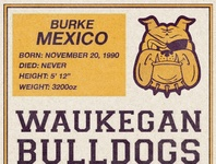 Bulldogs Football Card