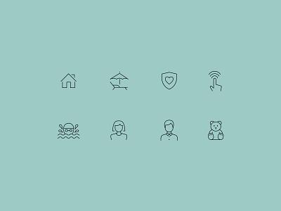 Averee – Brand Iconography iconography icons icon ui illustration graphic design design branding