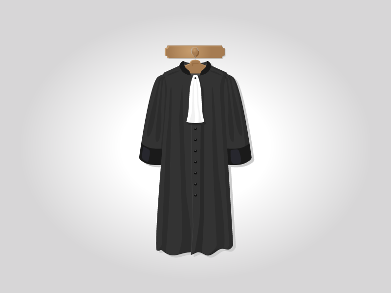 French lawyer robe by Mathieu Jouhet - Dribbble