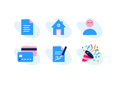 Unkle dashboard icons party signature credit card person house home document iconset icons icon