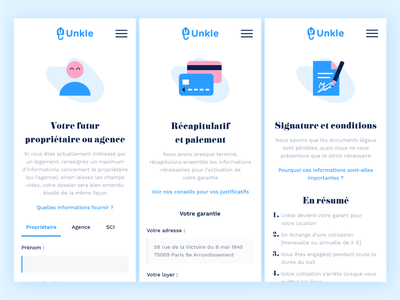 Unkle mobile layout web design product design adobe xd xd mockup mobile ui mobile guarantor
