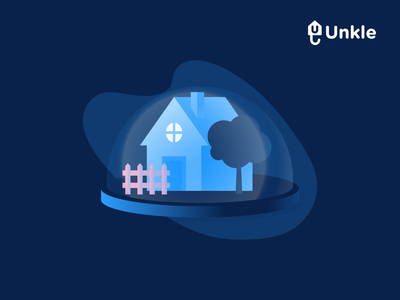 Unkle housing illustration proptech insurtech landlord renter branding design websites illustrator guarantor website illustration house housing unkle