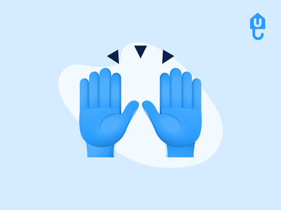 Raising hands in celebration proptech insurtech product design icons vector celebrate guarantor landlord renter illustration emoji celebration hands raising hands unkle