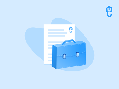Briefcase with document icon vector unkle tenant renter proptech landlord document briefcase insurtech insurance illustrator illustration icons icon housing guarantor fintech