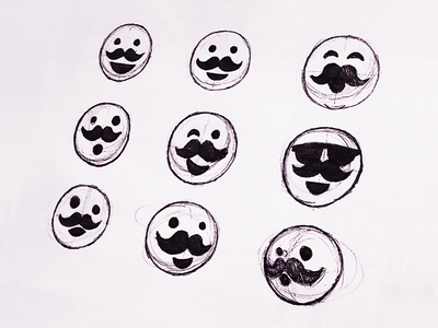 Smiley Face Expressions Ideas Sketch moustache sketch facial expression expression smiley face