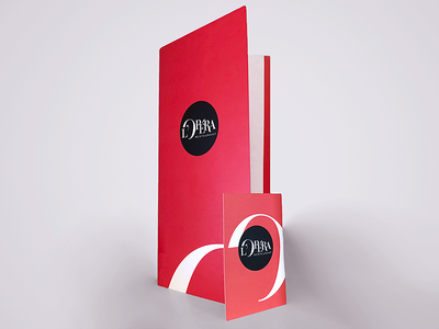 A night at the Opera restaurant menu holder logo business card menu opéra