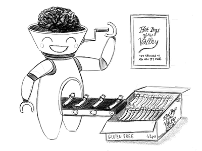 Hot Dogs Of The Valley illustration sketch processed silicon valley hot-dogs