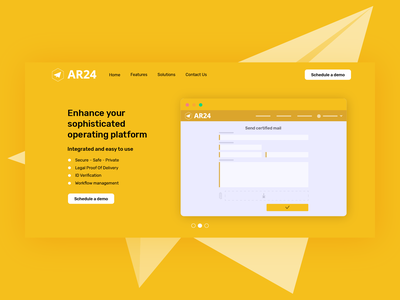 Ar24 Illustration Product UI landing page webdesign product page certified mail product design ui illustrator illustration
