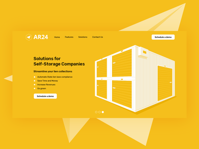 Ar24 Illustration Self-Storage Companies landing page certified mail webdesign ui self-storage vector illustrator illustration