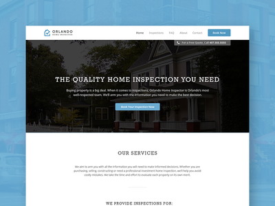 Orlando Home Inspector Website Design By Matthew Morrison Dribbble