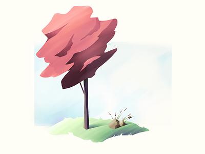 #1 Cherry Blossom Tree nature tree illustration