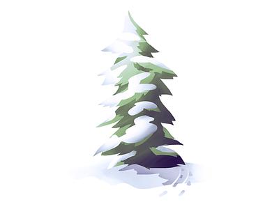 #2 Evergreen (Fir) Tree snow nature tree illustration