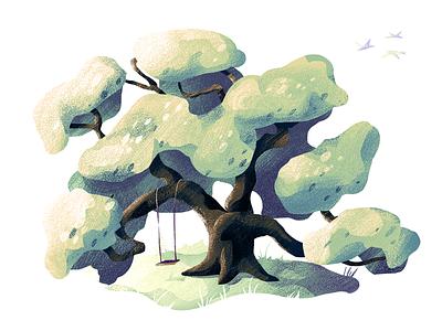 #3 Oak Tree tree illustration