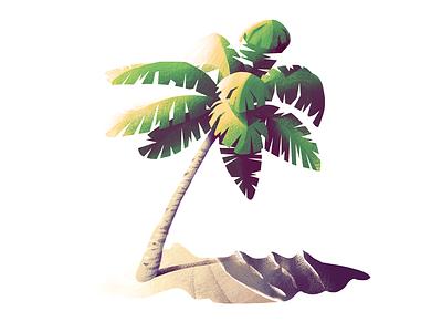 #4 Palm Tree beach tree illustration