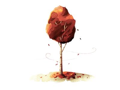 #5 Birch Tree nature fall tree illustration