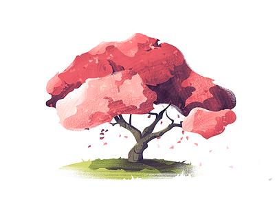 #9 Crabapple Tree tree illustration nature