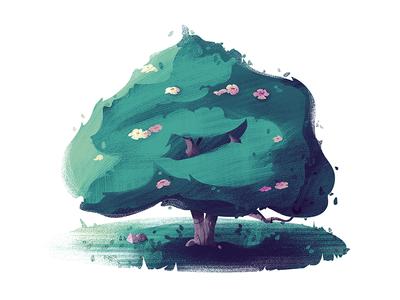 #10 Magnolia Tree tree nature illustration