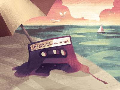 Summer Mixtape mixtape summer illustration