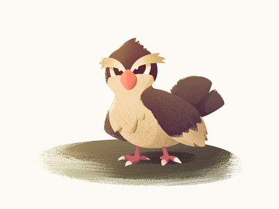 Pidgey bird pidgey pokemon illustration