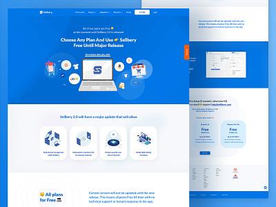 Sellbery concept website ui saas landing page saas design saas