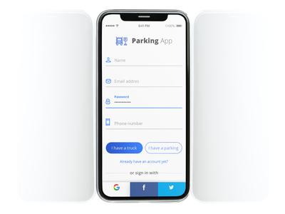 Parking app - Daily UI #6