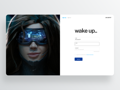 Daily UI — Sign Up