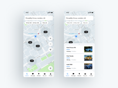 Car Sharing Mobile App