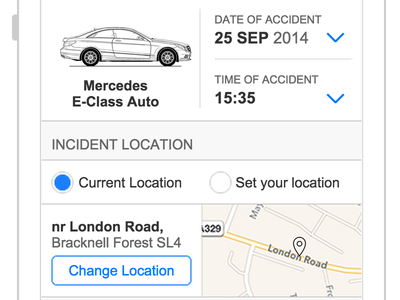 Car Hire - Incident Reporting car hire mobile