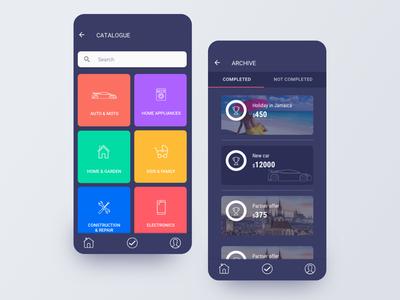 Saving money app