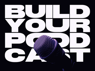 Podcast Covers #3: Build Your Podcast brand branding podcast artwork podcast cover art podcast cover podcast art podcast logo podcast