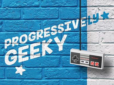 Podcast Covers #8: Progressively Geeky brand identity brand design branding brand podcast artwork podcast cover art podcast cover podcast logo podcast art podcasts podcast