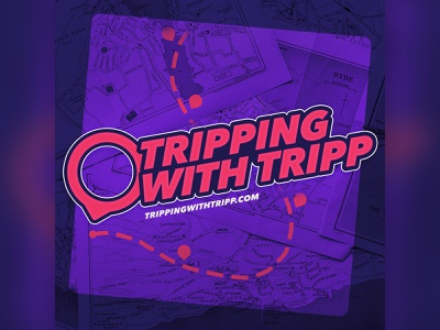 Podcast Covers #10: Tripping With Tripp branding brand identity brand logo podcast brand podcast logo podcast cover art podcast artwork podcast art podcast cover podcasts podcast