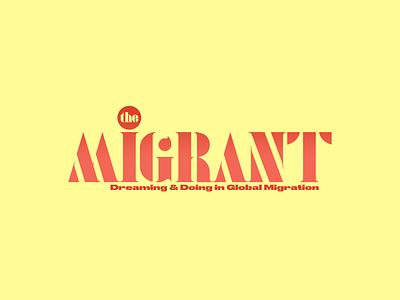 The Migrant Logo branding design logos logotype designer logotypes brand design brand identity branding brand logotype design logotypedesign logodesign logo design logotype logo