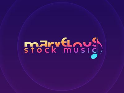 Marvelous Stock Music branding design brand design youtube brand identity logos logodesign logotype logo design branding brand logo