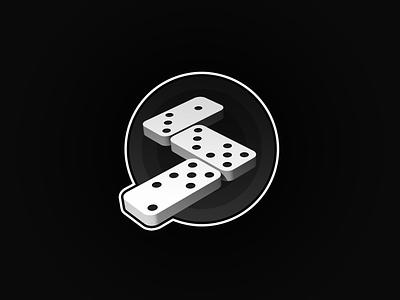 Dominos Emblem logos logodesign emblem logo logo design patch emblem logo domino dominos