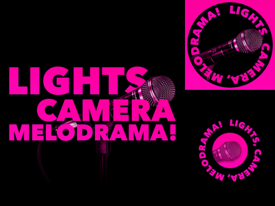 Podcast Covers #15: Lights, Camera, Melodrama! cover design cover artwork podcasts logo branding podcast brand podcast cover art cover art podcast cover podcast logo podcast art podcast