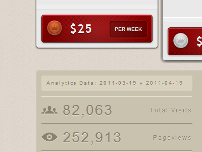 Pricing Table & Analytics pixel pattern button css analytics pricing red brown