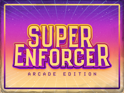 Super Enforcer Arcade video game retro game logo arcade
