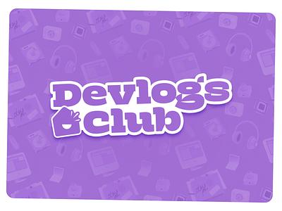 Devlogs Club Logo design logotype branding simplistic brand sticker logo